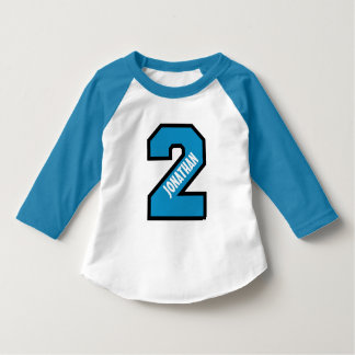 2nd Birthday Boy Sports Number Two Years A01 T-Shirt
