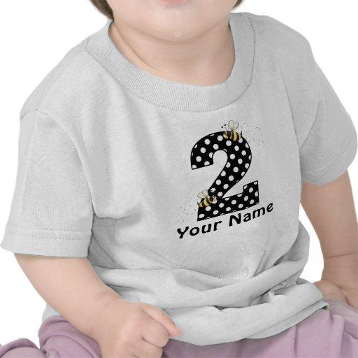2nd Birthday Bumble Bee Girls Personalized Shirt