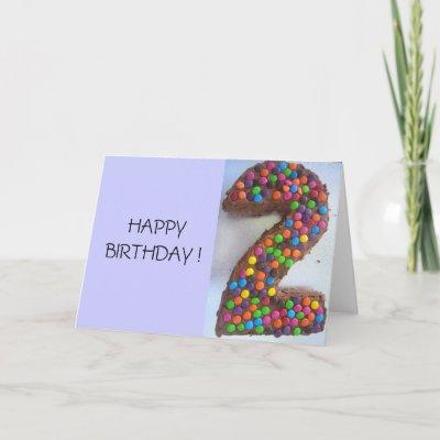 2nd birthday cake cards by cardart
