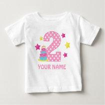 2nd Birthday Cake Girl Personalized T-shirt