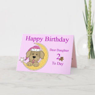2nd Birthday Card For A Daughter