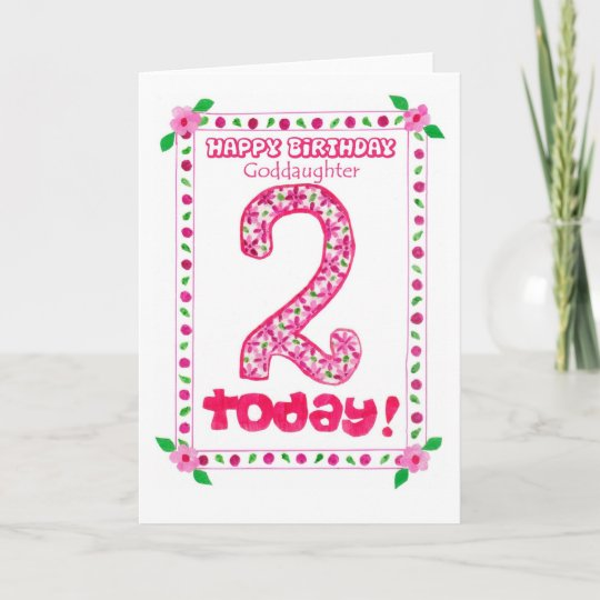 2nd Birthday Card For A Goddaughter Zazzle