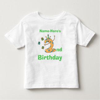 2nd birthday cartoon. Custom Name. T Shirts