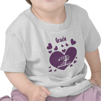 2nd Birthday Cascading Hearts Two Year Old V06 Tee Shirts