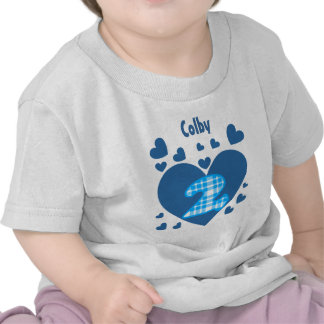 2nd Birthday Cascading Hearts Two Year Old V12 Tee Shirt