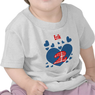 2nd Birthday Cascading Hearts Two Year Old V13 T-shirts