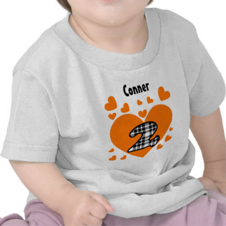 2nd Birthday Cascading Hearts Two Year Old V21 T-shirt