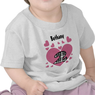 2nd Birthday Cascading Hearts Two Year Old V24 Shirt
