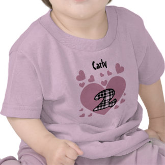 2nd Birthday Cascading Hearts Two Year Old V25 T-shirts