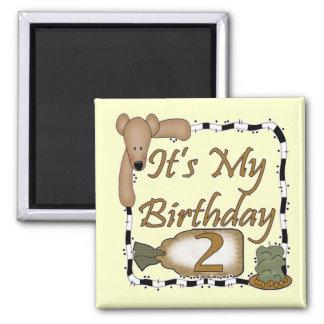 2nd Birthday Celebration 2 Inch Square Magnet