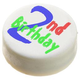 2nd Birthday Chocolate Dipped Oreo