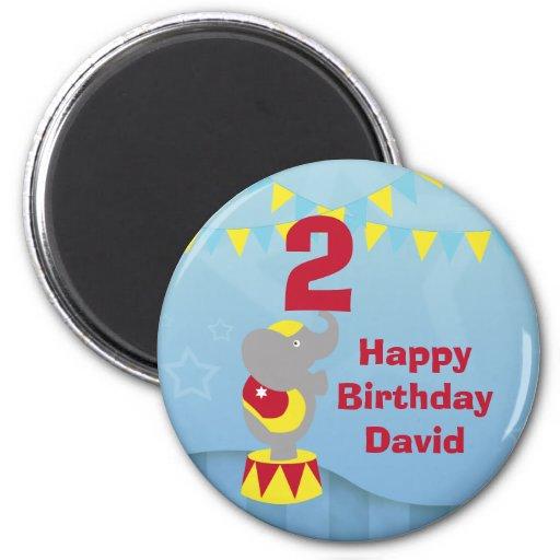 2nd Birthday Circus Elephant Magnet