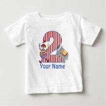 2nd Birthday Circus Personalized Shirt