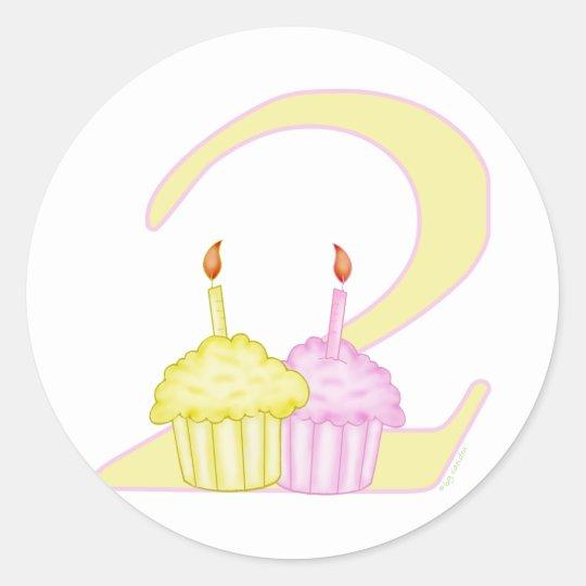 2nd Birthday Classic Round Sticker