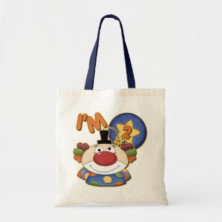 2nd Birthday Clown Birthday Canvas Bag