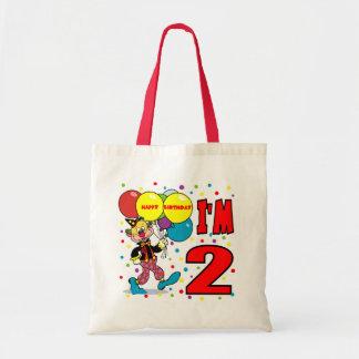 2nd Birthday Clown Birthday Canvas Bags