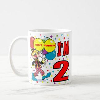 2nd Birthday Clown Birthday Coffee Mugs
