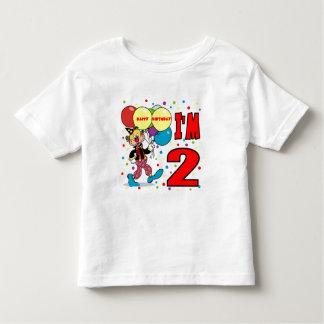 2nd Birthday Clown Birthday Toddler T-shirt