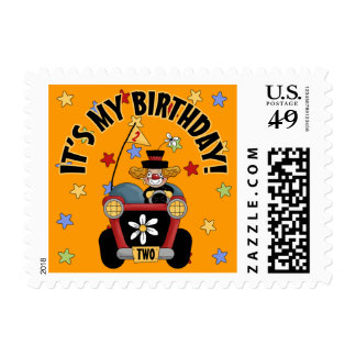2nd Birthday Clown Postage