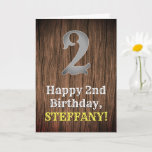 [ Thumbnail: 2nd Birthday: Country Western Inspired Look, Name Card ]