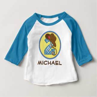 2nd Birthday Cowboy I'm 2 Personalized Toddler Tee