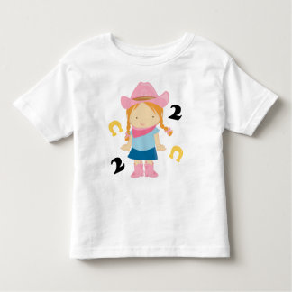 2nd Birthday Cowgirl Toddler T-shirt