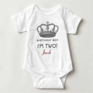 2nd Birthday Crown Gift for Princess or Prince Infant Creeper