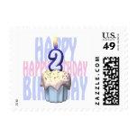 2nd Birthday Cupcake Birthday Stamp