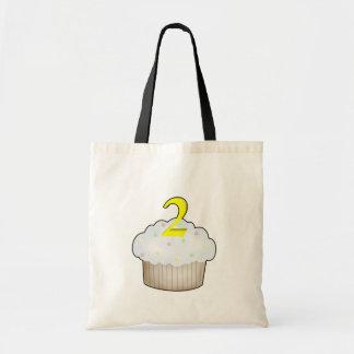 2nd Birthday Cupcake Canvas Bags