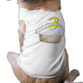 2nd Birthday Cupcake Doggie Tee Shirt