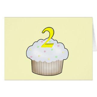 2nd Birthday Cupcake Greeting Cards