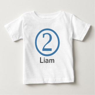 2nd  Birthday Customizable T-Shirt Boy