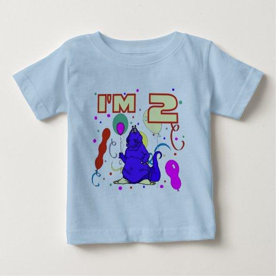 2nd Birthday Dinosaur Birthday Baby T-Shirt