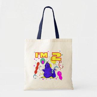 2nd Birthday Dinosaur Birthday Tote Bags
