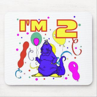 2nd Birthday Dinosaur Birthday Mouse Pad
