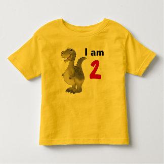 2nd birthday dinosaur gift idea toddler t-shirt