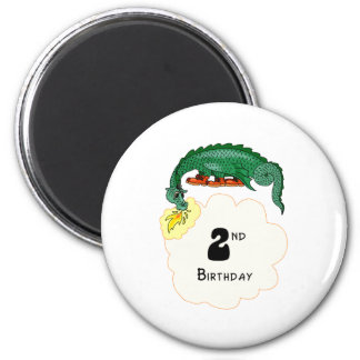 2nd Birthday Dragon Magnet