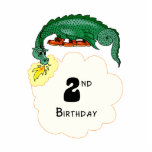 2nd Birthday Dragon Photo Cut Out