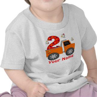 2nd Birthday Dump Truck Personalized T-shirt