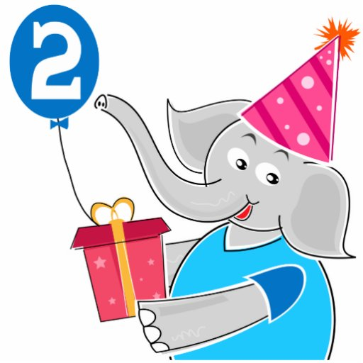 2nd Birthday Elephant Cut Outs