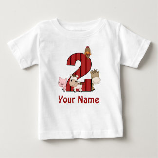2nd Birthday Farm Animals Personalized Shirt