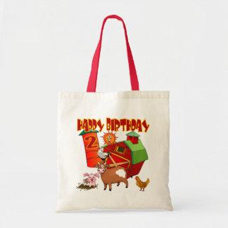 2nd Birthday Farm Birthday Tote Bag