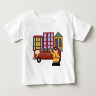 2nd Birthday Firefighter Baby T-Shirt