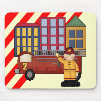 2nd Birthday Firefighter Mouse Pad