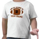2nd Birthday Football Boys Personalized T-shirt