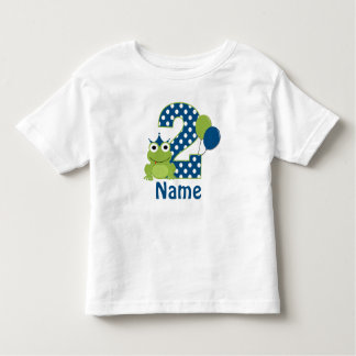 2nd Birthday Frog Personalized Shirt