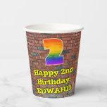[ Thumbnail: 2nd Birthday: Fun Graffiti-Inspired Rainbow 2 ]