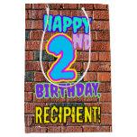 [ Thumbnail: 2nd Birthday: Fun, Urban Graffiti Inspired Look Gift Bag ]