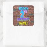 [ Thumbnail: 2nd Birthday – Fun, Urban Graffiti Inspired Look Sticker ]