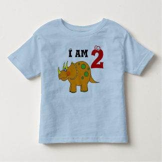 2nd birthday gift, dinosaur triceratops toddler t-shirt